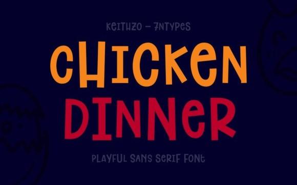 Chicken Dinner Display Font