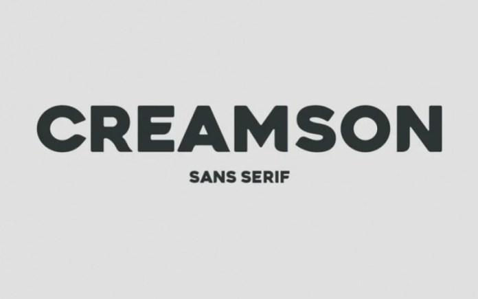 Creamson Display Font