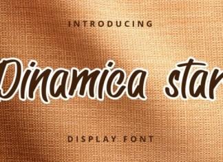 Dinamica Star Brush Font
