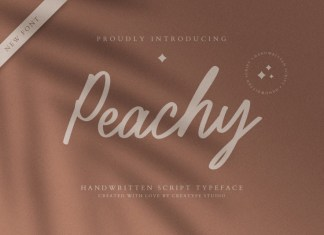 Peachy Script Font