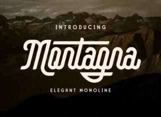 Montagna Script Font