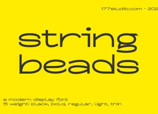 String Beads Sans Serif Font