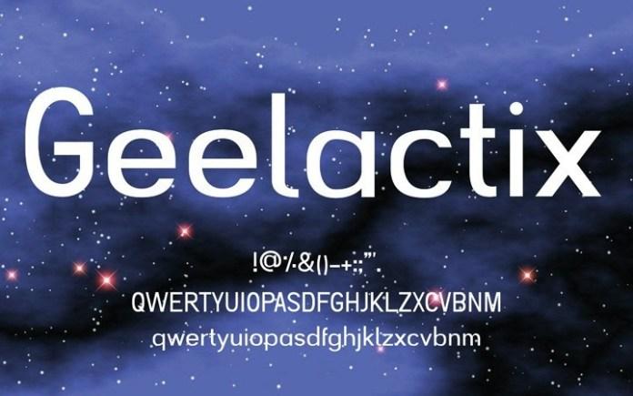Geelactix Sans Serif Font