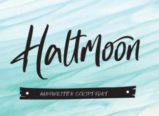 Haltmoon Script Font