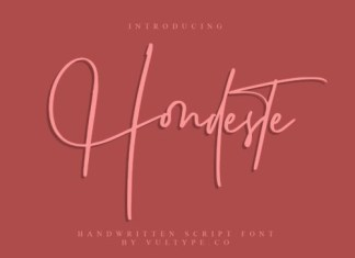 Hondeste Script Font