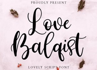 Love Balqist Script Font