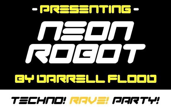 Neon Robot Display Font