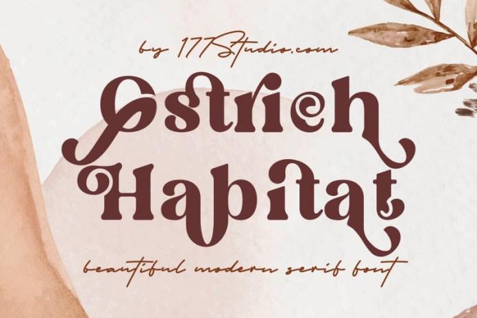 Ostrich Habitat Serif Font