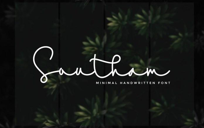 Southam Handwritten Font