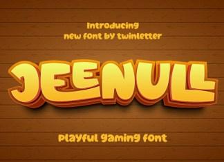 Jeenull Display Font
