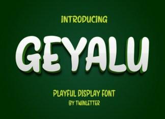 Geyalu Display Font