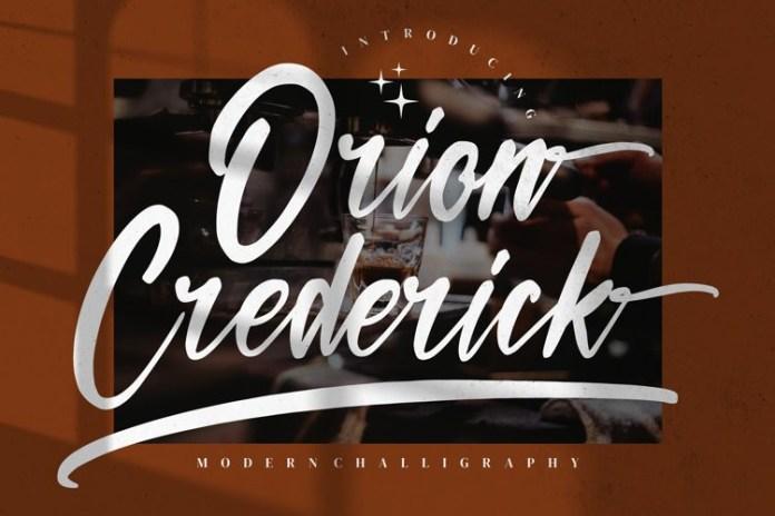 Orion Crederick Script Font