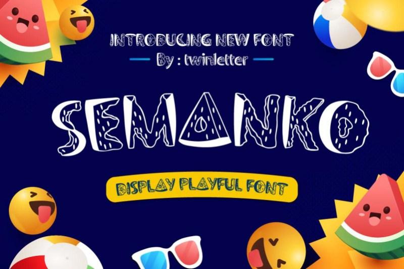 Semanko Display Font