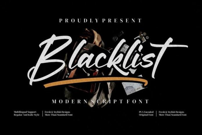 Blacklist Script Font