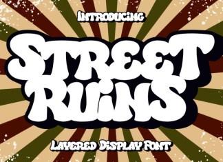 Street Ruins Display Font
