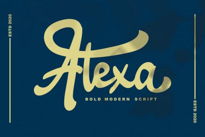 Alexa Script Font