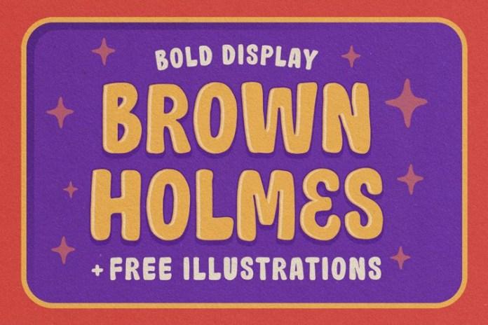 Brown Holmes Display Font