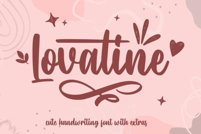 Lovatine Script Font