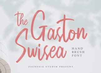 The Gaston Swisea Brush Font