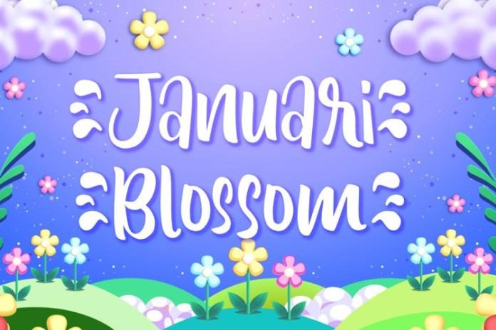 Januari Blossom Brush Font