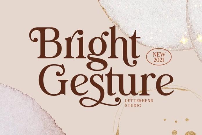 Bright Gesture Serif Font