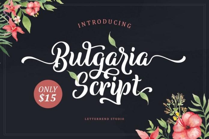 Bulgaria Calligraphy Font