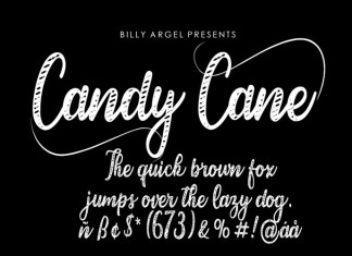 Candy Cane Script Font
