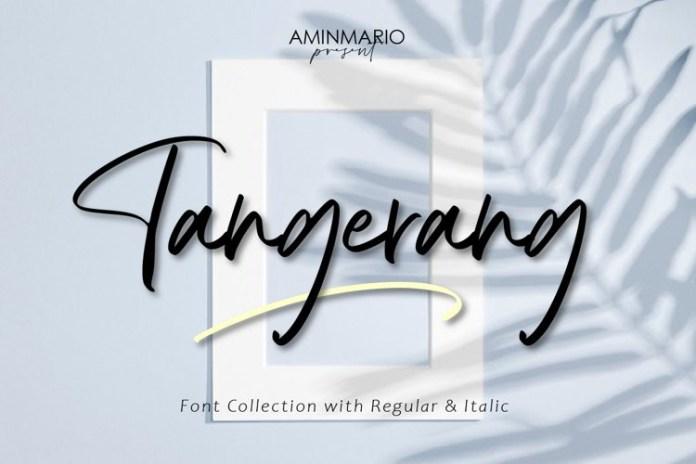 Tangerang Handwritten Font