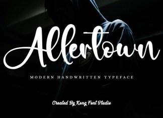 Allertown Script Font