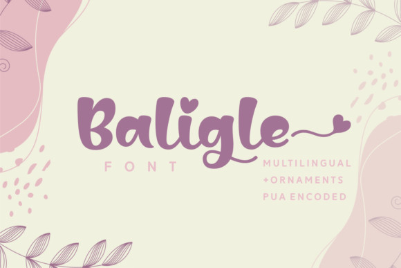 Baligle Script Font