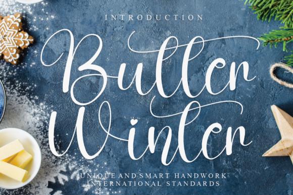 Butter Winter Script Font