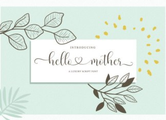 Hello Mother Calligraphy Font