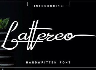 Lattereo Script Font
