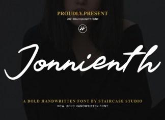 Jonnienth Script Font