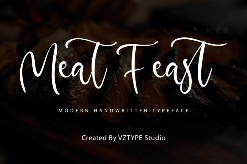 Meat Feast Script Font