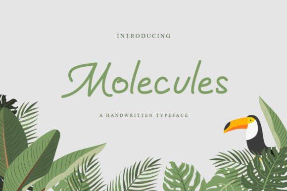 Molecules Handwritten Font