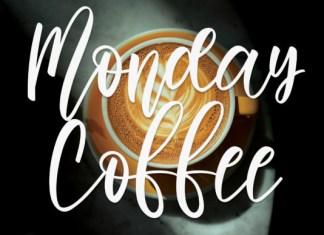 Monday Coffee Script Font