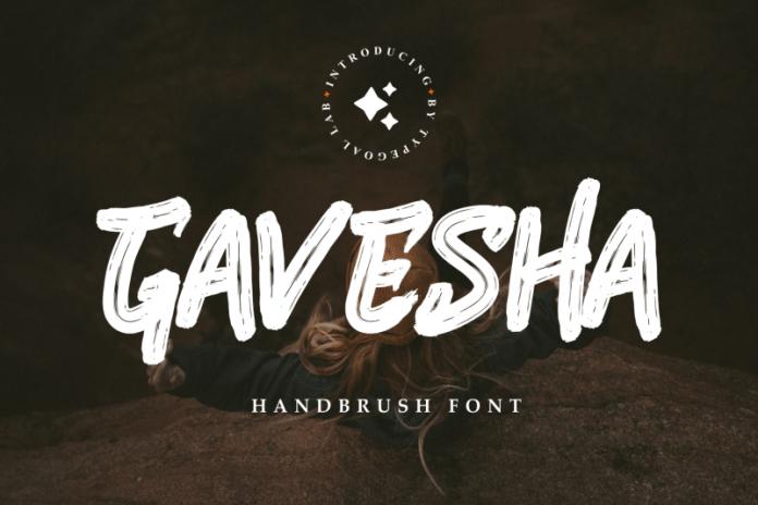 Gavesha Brush Font