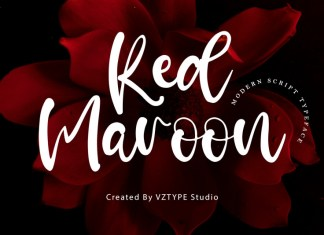 Red Maroon Script Font