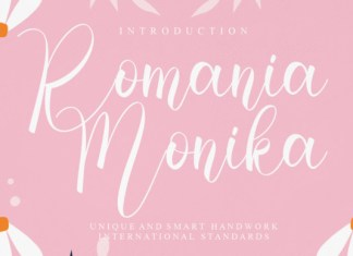 Romania Monika Script Font