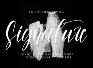 Signature Script Typeface