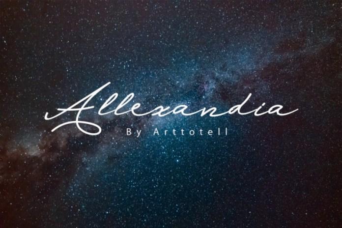 Allexandia Handwritten Font