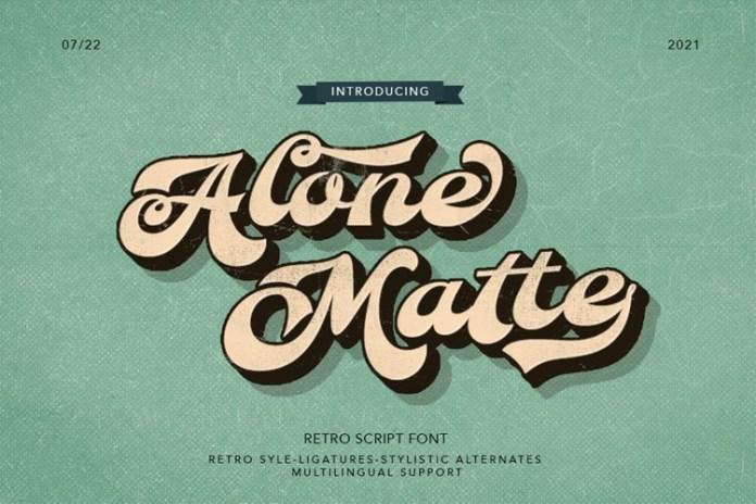 Alone Mate Script Font