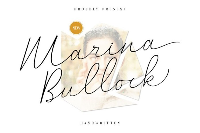 Marina Bullock Handwritten Font