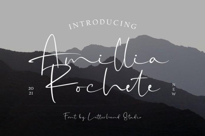Amillia Rochete Handwritten Font