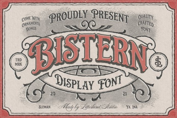 Bistern Display Font