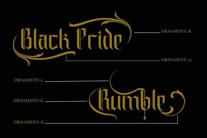 Black Pride Blackletter Font
