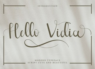Hello Vidia Calligraphy Font