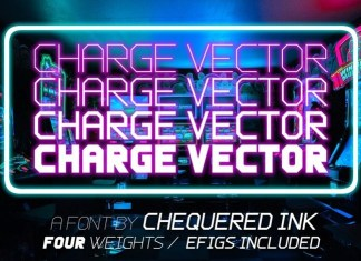 Charge Vector Display Font