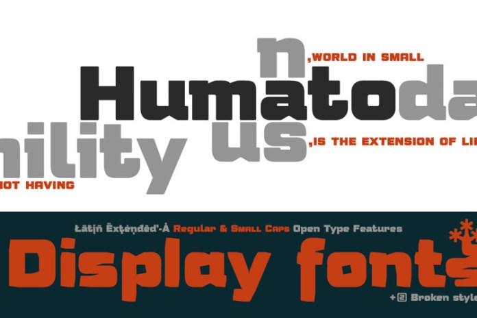 Humato Heavy Display Font